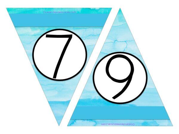Number Bunting FREE Printables - 6-7