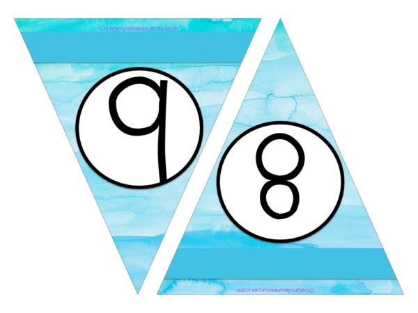 FREE Bunting - Numbers 8 & 9