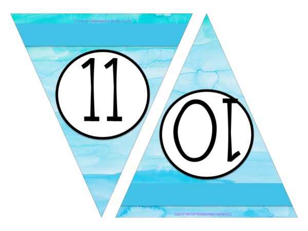 FREE Bunting - Numbers 10 & 11
