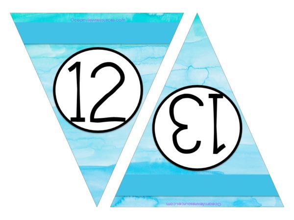 FREE Bunting - Numbers 12 & 13