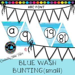 Printable Alphabet and Number Bunting FREE numbers 18-19