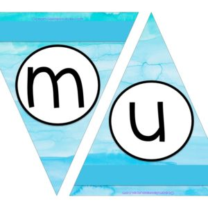 FREE Bunting - Letters m & n