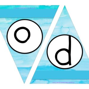 FREE Bunting - Letters o & p
