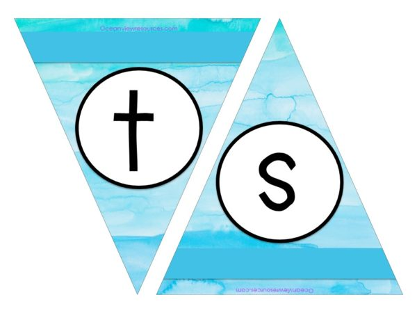 FREE Bunting - Letters s & t