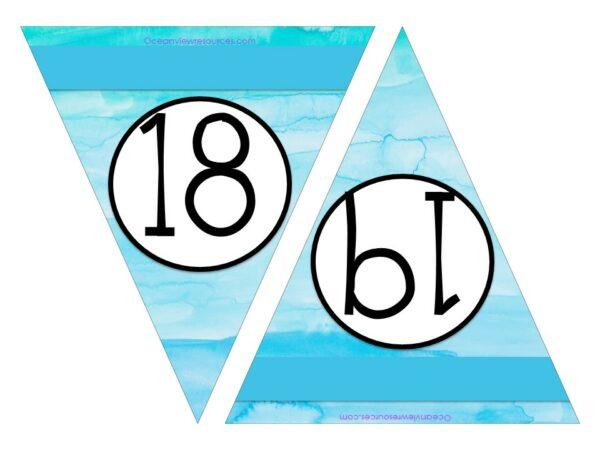 Free Printable Numbers 18-19