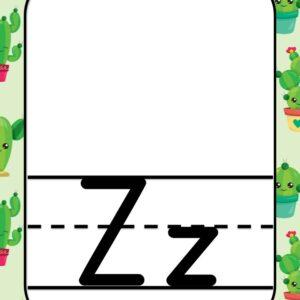 Alphabet Letter Z - Classroom Decorations