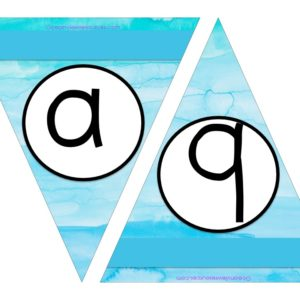 FREE Bunting - Letters a & b