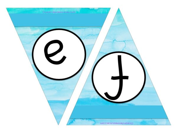 FREE Bunting - Letters e & f