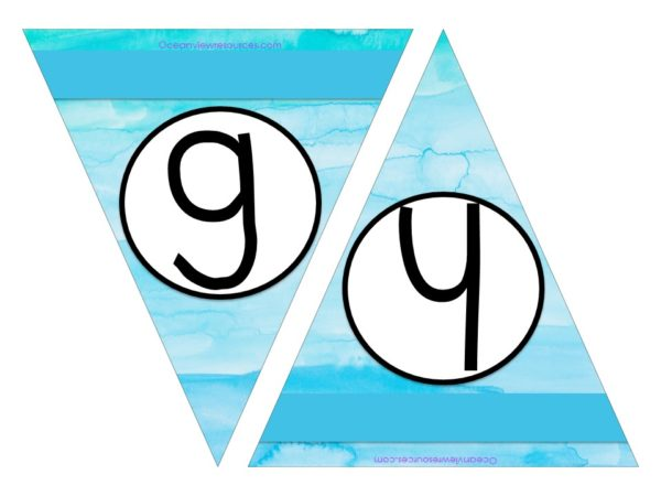 FREE Bunting - Letters g & h