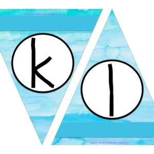 FREE Bunting - Letters k & l