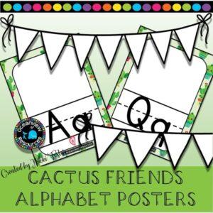 Alphabet Poster Set-Cactus Design