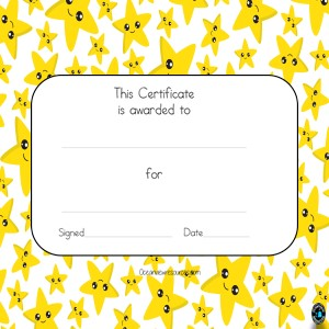 Award Certificates-Editable-yellow stars
