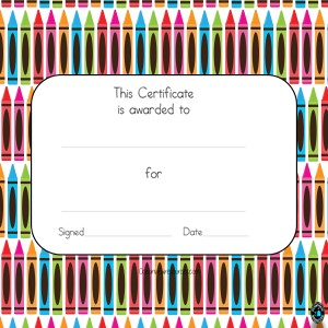 Award Certificates-Editable-crayons