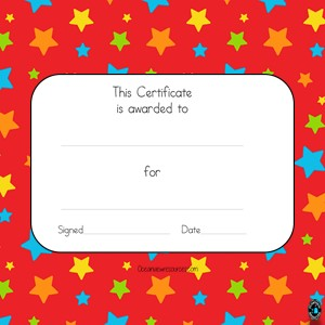 Award Certificates-Editable-red with stars